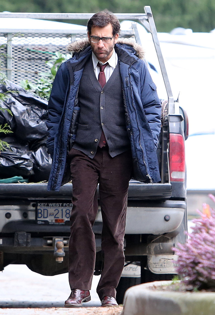 Clive Owen filmed Words and Pictures in Vancouver on Tuesday.