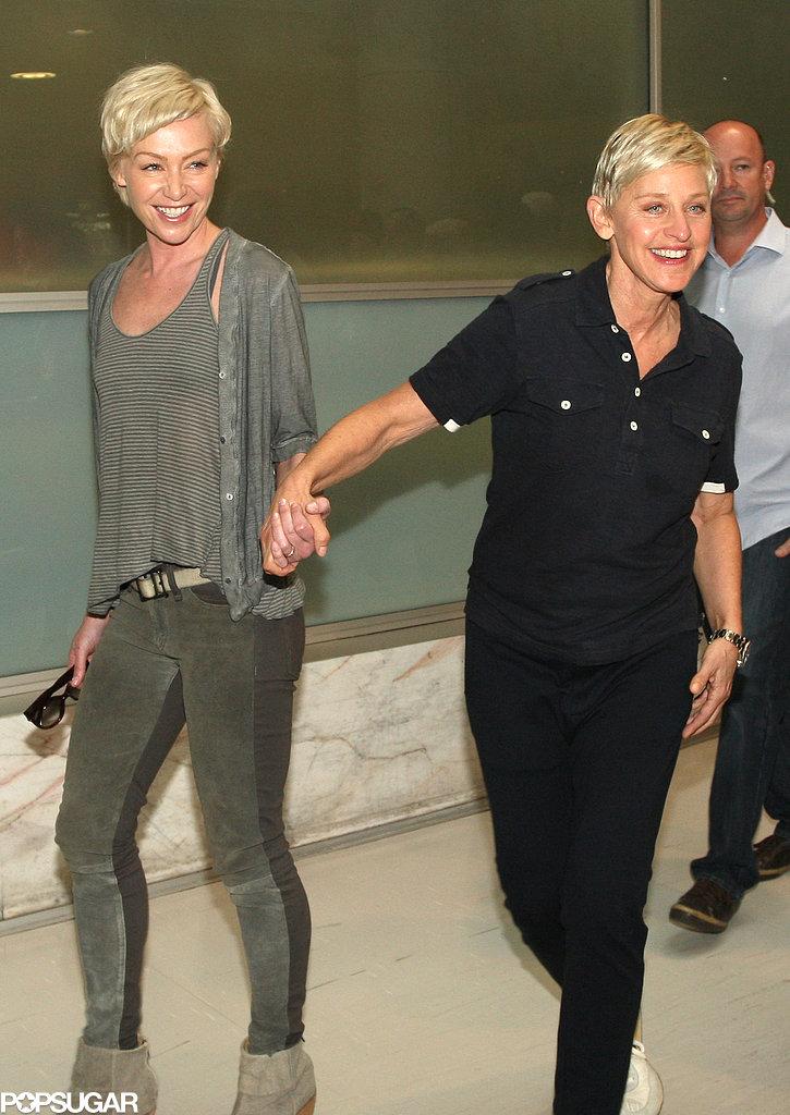 Ellen and Portia Greet a Giraffe Down Under