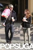 Jennifer Garner chatted with Ben Affleck as they left a coffee shop.