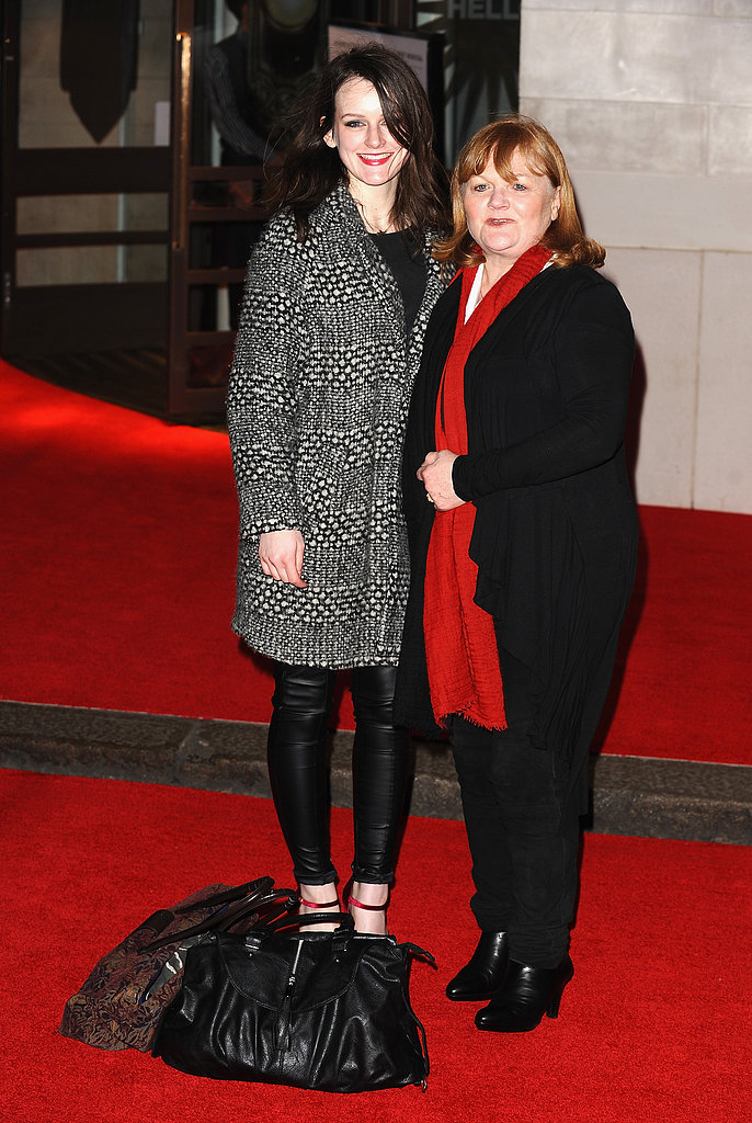 Sophie McShera met up with her Downton Abbey costar Lesley Nicol.