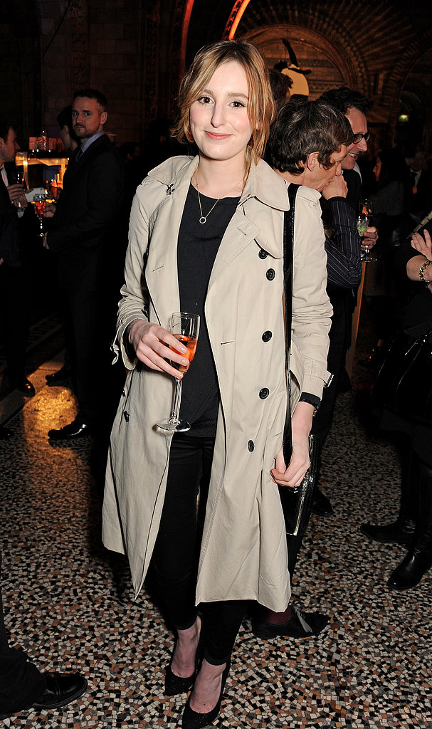 Laura Carmichael wore a classic trench.