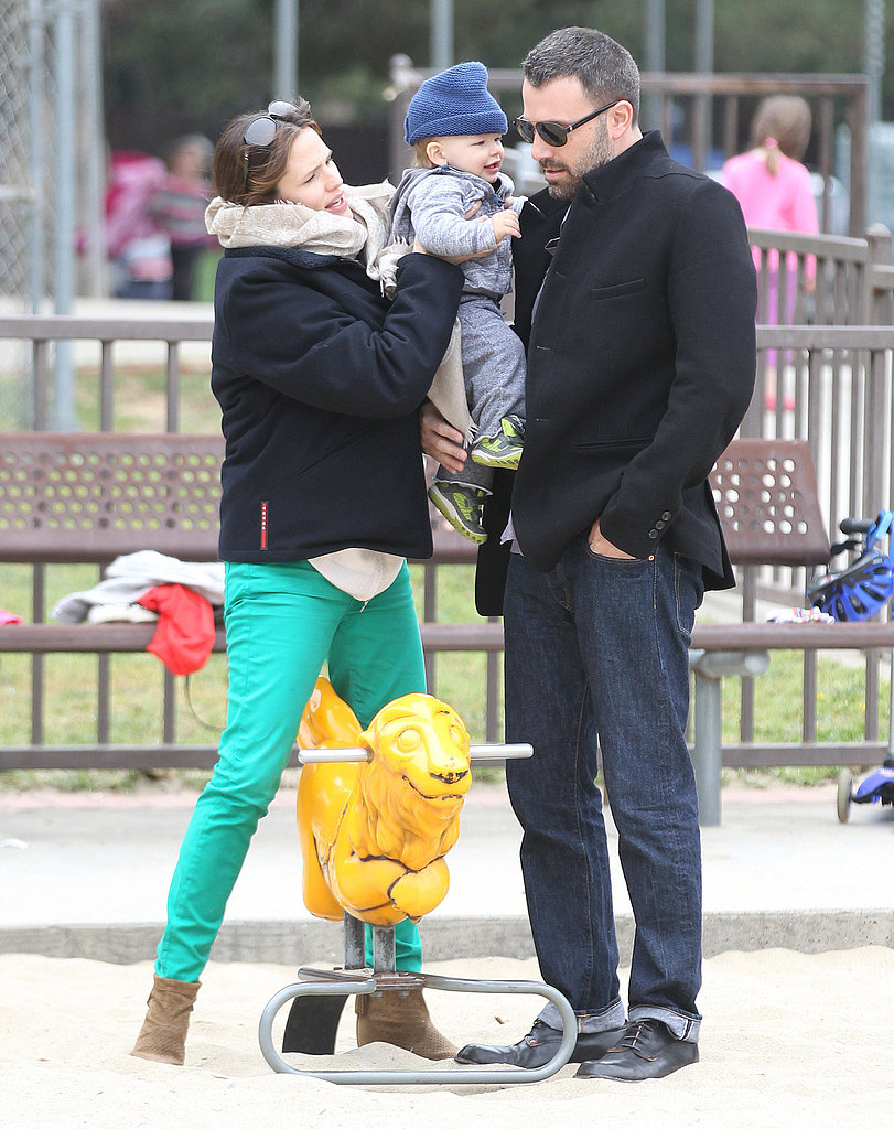 Ben Affleck and Jennifer Garner spent St. Patrick's Day at an LA park with Samuel.