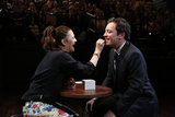 Drew Barrymore gave Jimmy Fallon a makeup demonstration.