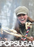 Kate Middleton laughed over a fire.