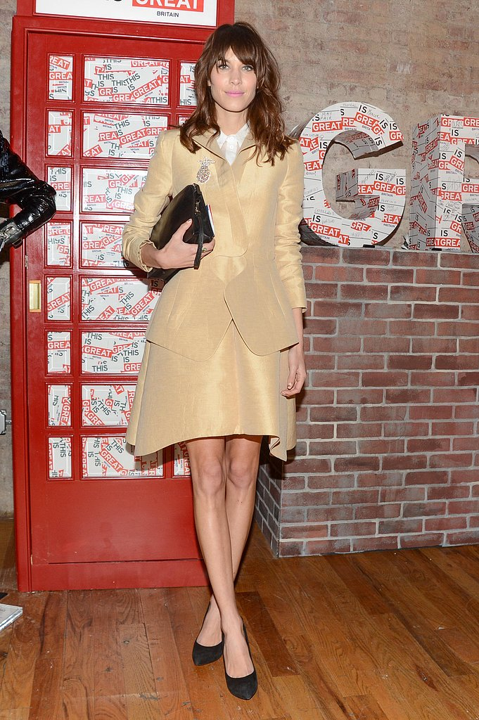 Alexa Chung worked her charm in a Carven skirt suit for the Big British Invite event in NYC. Source: Billy Farrell/BFAnyc.com