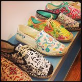 So many brightly printed options from Soludos for Summer!