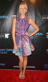 Maria Sharapova showed off a printed J. Mendel dress at an event in Miami.