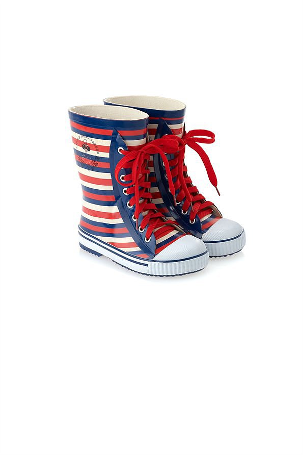 Little Marc Jacobs Striped Rainboots