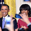 The Obamas at the Women's History Month Reception
