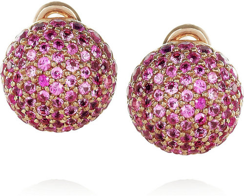 Carolina Bucci 18-karat rose gold and sapphire earrings