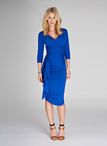 The Ruched Wrap Maternity Dress