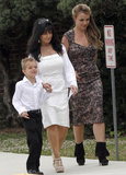 Britney Spears and her family went to church services on Sunday in Kentwood, LA.