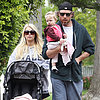 Jessica Simpson and Eric Johnson With Maxwell on Easter