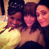 Emmy Rossum tweeted a picture of her with Shameless costars Shanola Hampton and Emma Greenwell. Source: Instagram user emmyrossum