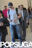 Chris Hemsworth arrived at LAX.