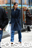Katie Holmes and Her Stylist Step Out For Stationery Shopping