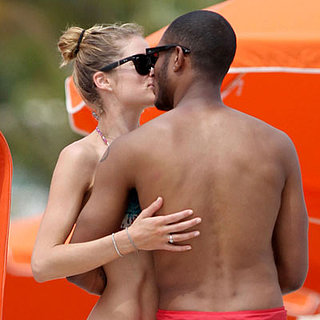 Bikini-Clad Doutzen Kroes Shows PDA on the Beach in Miami