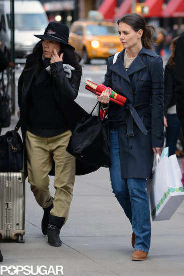 Katie Holmes walked around NYC with her stylist Jeanne Yang.