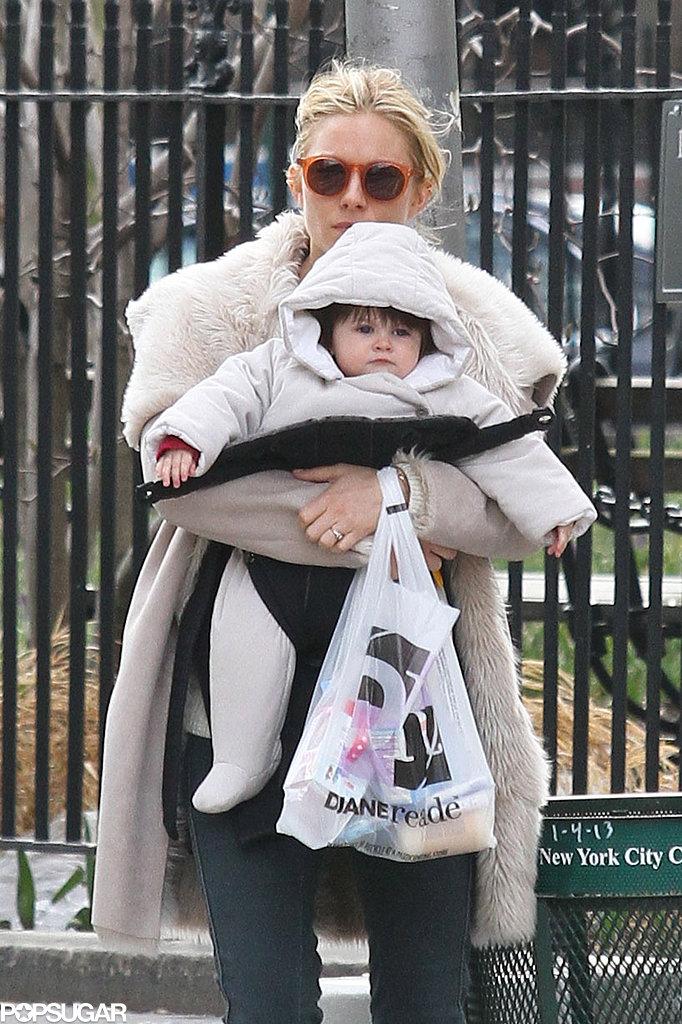 Sienna Miller ran errands with baby Marlowe.