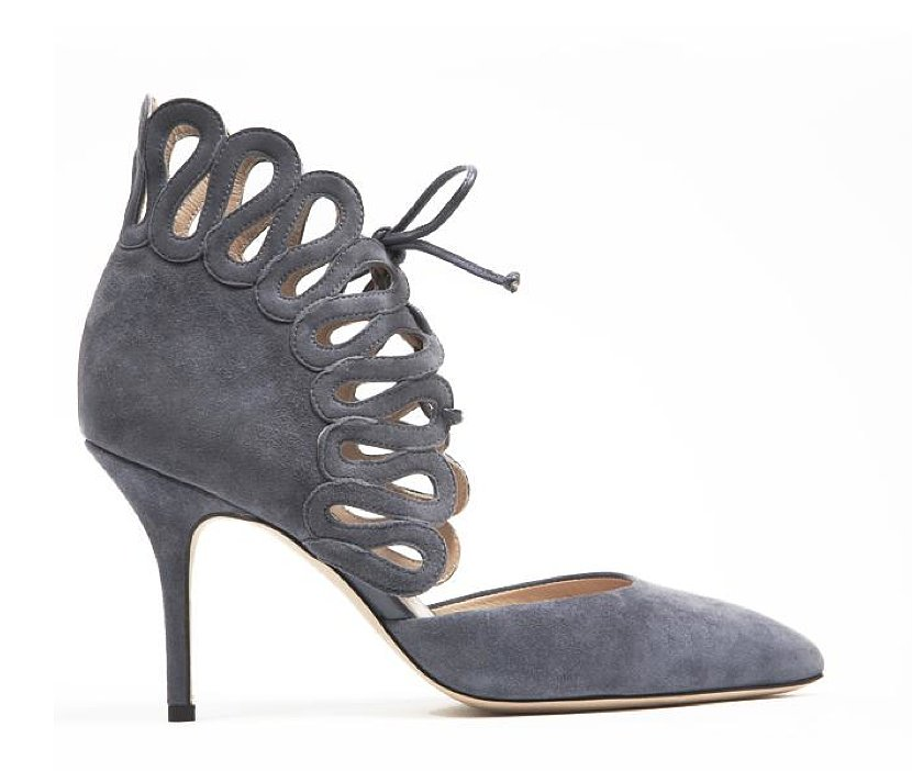 Monique Lhuillier Gray Suede Pump ($950)
