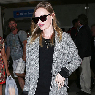 Kate Bosworth at LAX in Tweed Jacket