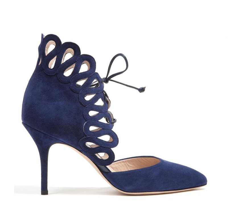 Monique Lhuillier Midnight Suede Pump ($950)