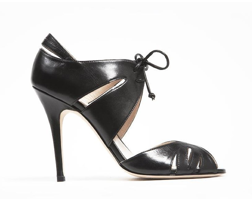 Monique Lhuillier Black Kid Sandal ($890)