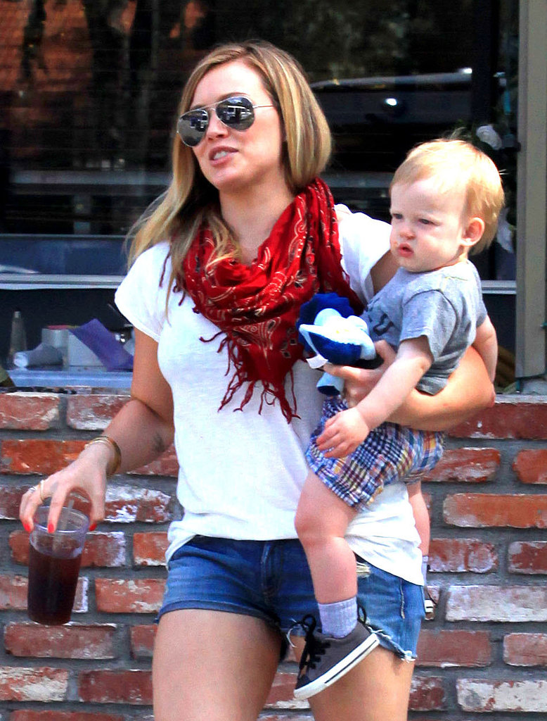 Hilary Duff and her son, Luca Comrie, were out and about in LA on Sunday.