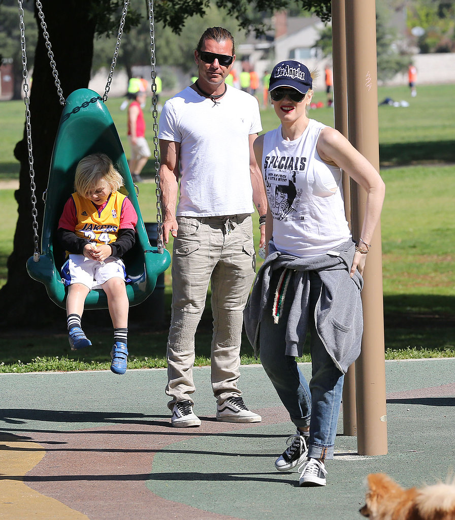 Gwen Stefani and her husband, Gavin Rossdale, took their sons, Kingston and Zuma, to a park in LA on Sunday.