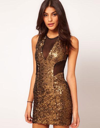 ASOS Mini Dress with Sequin Mesh