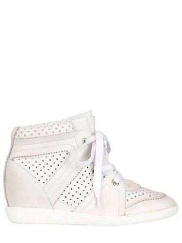 80mm Baya Calfskin Wedge Sneakers