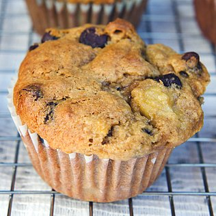 Banana Chocolate-Chip Nut Muffins Recipe
