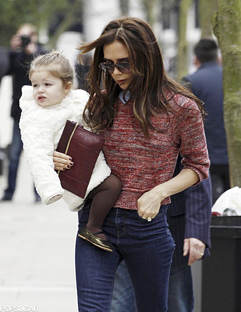 Victoria Beckham carried Harper.