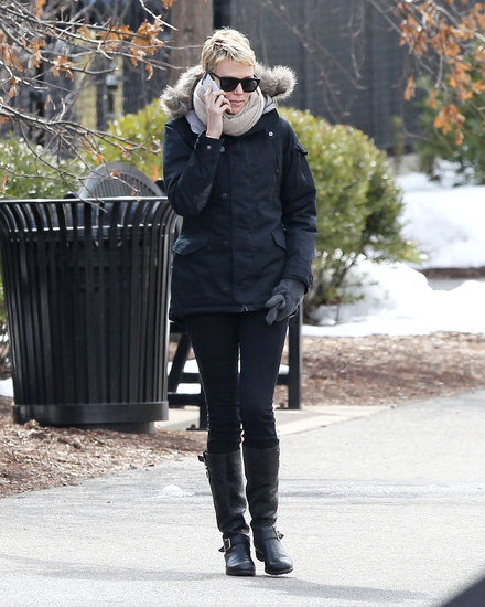 Charlize Theron walked around Boston.