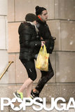 Scarlett Johansson linked arms with Romain Dauriac in NYC.