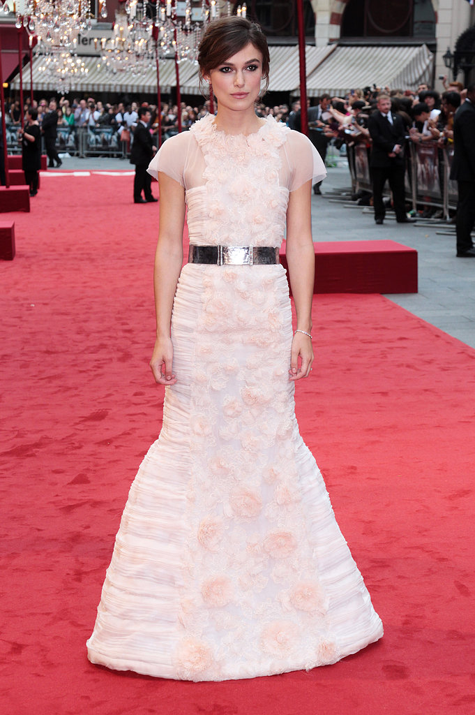 The actress had a memorable moment in a frothy Chanel Couture gown at the London premiere of Anna Karenina.