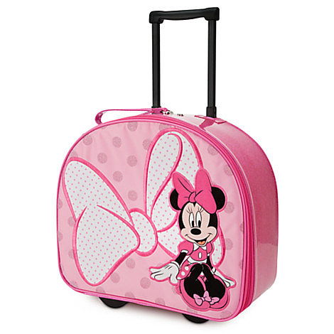 She'll be tickled pink over Disney's Minnie Mouse Rolling Luggage ($35) with charming polka dots.