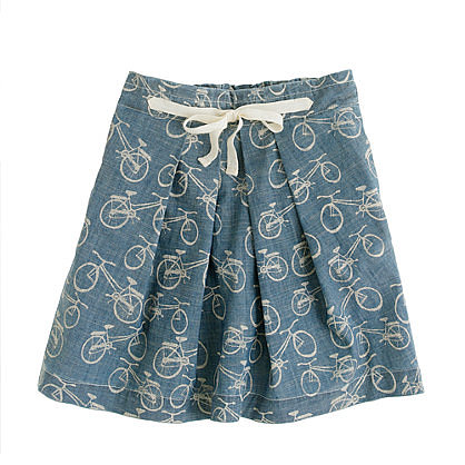 J.Crew's bicycle-print chambray skirt ($45, originally $55) has a sweet, vintage style she's sure to love.