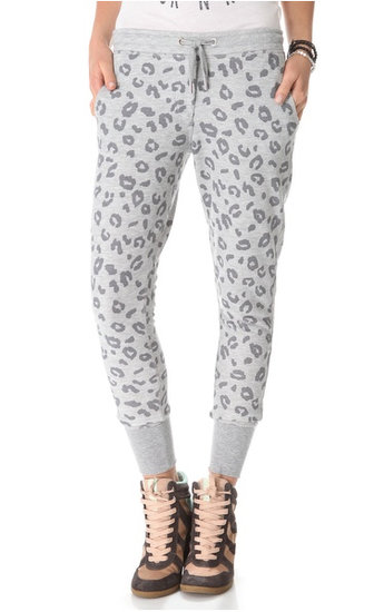 At a cozy yoga weekend session, crawl into these leopard sweats ($135). They'll be a roaring hit with your studio pals.