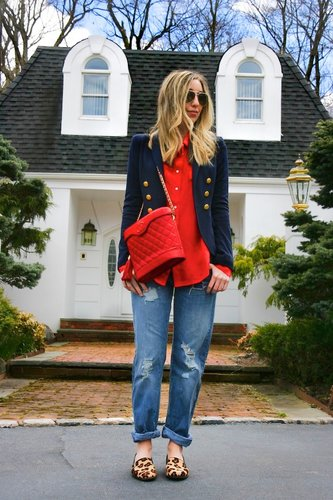 dressing up boyfriend jeans