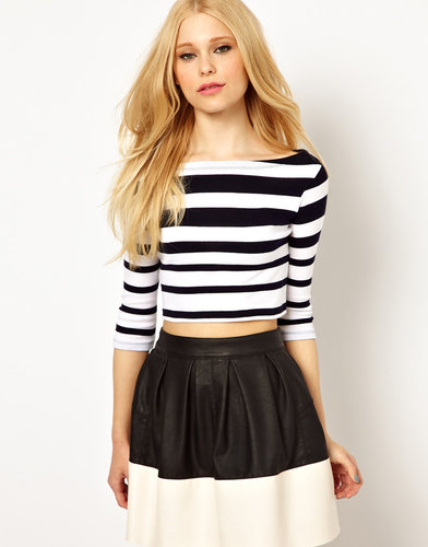 River Island Stripe Cropped Top