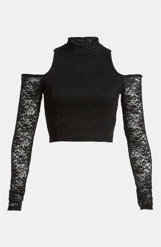 MINKPINK 'Imogen' Stretch Lace Crop Top