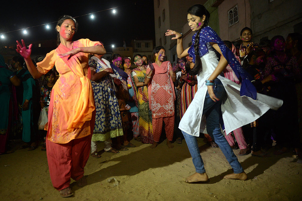 Hindu women danced during Holi celebrations in Karachi, Pakistan.