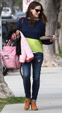 Jennifer Garner carried cookies in LA.