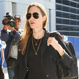 Angelina Jolie Lands in LA After Charity Trip to Africa