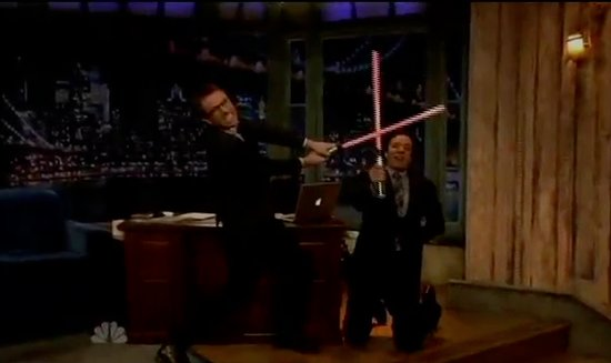 Chris Hardwick Challenges Jimmy Fallon to a Lightsaber Duel