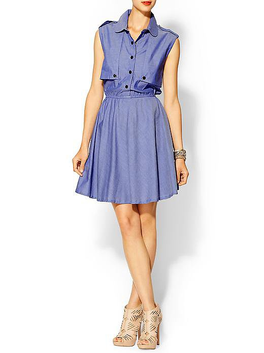 We love that this l.Madeline denim shirtdress ($79) has the look and feel of a sophisticated trench coat.