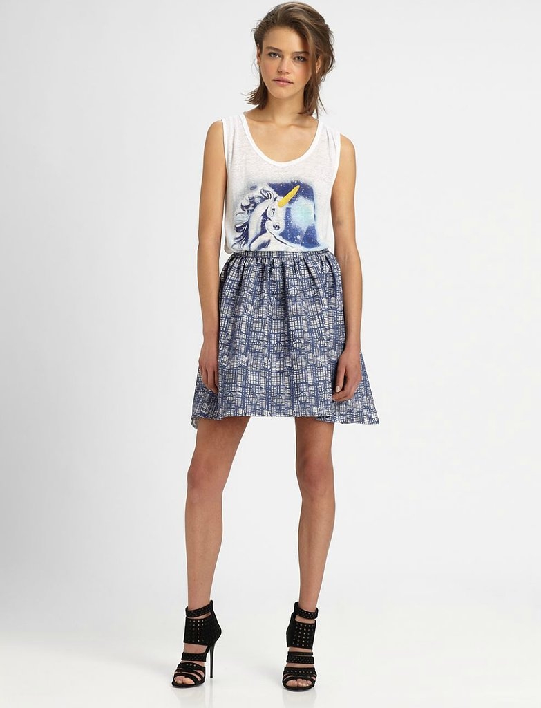 This The Man Repeller x PJK Wendy fit-and-flare skirt ($228) is a good option for those looking for a less exaggerated flounce silhouette — and the print is pretty awesome, too.