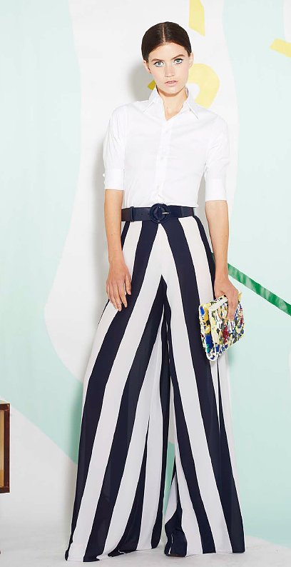 These Alice + Olivia wide-legged striped trousers are definitely editorial-looking, but imagine the impact they'll have when you walk into a room.