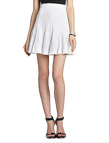 BCBG Max Azria's Quinnie lace skirt ($198) features a romantic lace detailing, which is ideal for weekend brunches, parties, and much more . . .